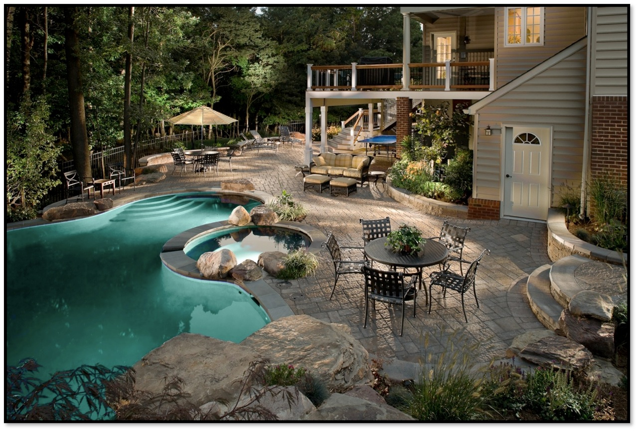Фото дворов домов с ландшафтным дизайном